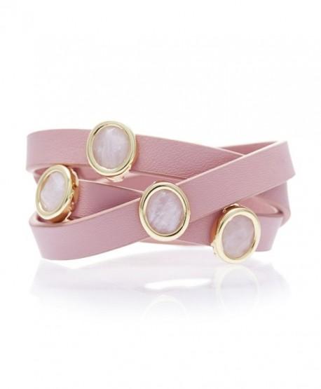 Lulu Dharma Gemstone Leather Bracelet - CH18802RO54
