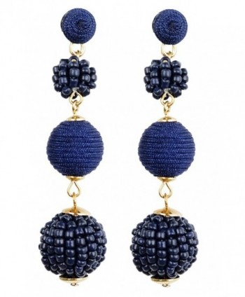Bee Wee Jewelry Sydney Earrings - Navy Blue - CZ186CN63MO