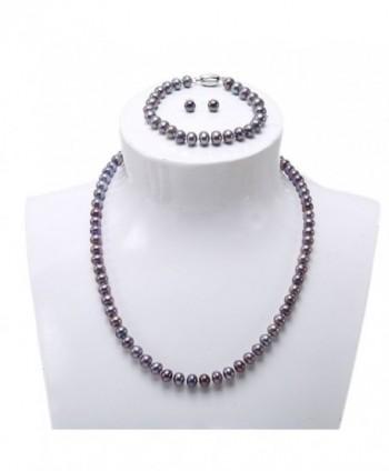JYX Dark purple Cultured Freshwater Pearl