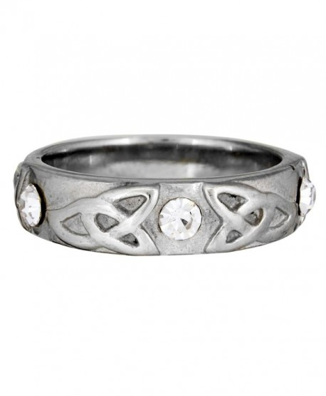 Quantum Jewelry Stainless Steel Trinity Band - CN124HLESED