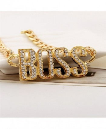 Lanue Rhinestone Necklace Statement Necklaces in Women's Pendants