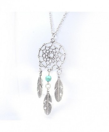 Ammazona Fashion Retro Jewelry Dream Catcher Pendant Chain Necklace - CB12H7V7I29