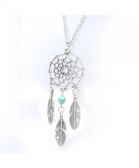 Ammazona Fashion Retro Jewelry Dream Catcher Pendant Chain Necklace - CB12H7V7I29