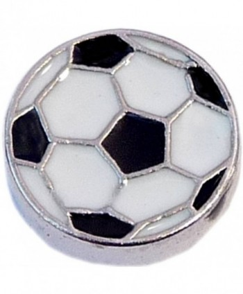 Soccer Ball Floating Locket Charm - CG11J3R84RJ