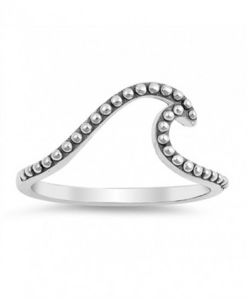 Wave Bali Ocean Sea Simple Elegant Ring New .925 Sterling Silver Band Sizes 4-10 - C7187Z552GY