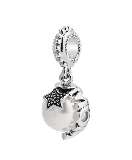 LovelyJewelry 925 Sterling Silver Mom Pentacle Charms Beads For Bracelet - CR12N274194