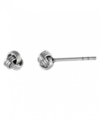 Tiny Sterling Silver Knot Stud Earrings 3/16 inch - CC111B2FL6L