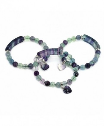 Natural Fluorite Precious Gemstone Bracelet