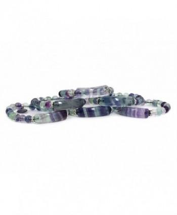 Natural Fluorite Precious Gemstone Bracelet in Women's Strand Bracelets