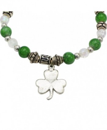 Rosemarie Collections Stretch Bracelet Shamrock