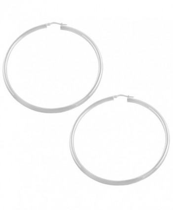 Sterling Silver 3x60mm Round Polished Hoop Earrings - CB11057EFKV